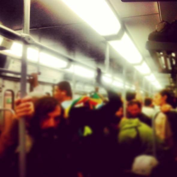 Lunedì 30/09/2013, treno urbano delle 19:58 da Piazzale Flaminio
