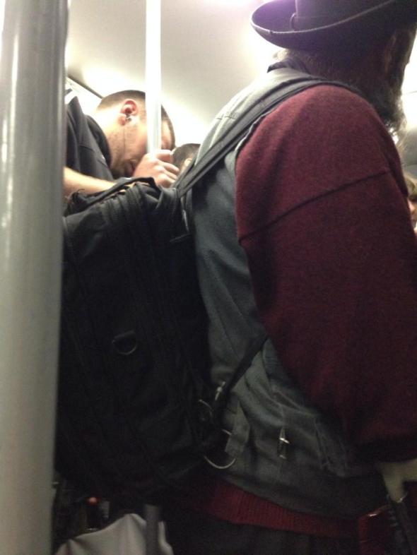 Martedì 05/11/2013, treno urbano delle 19:58 da Piazzale Flaminio
