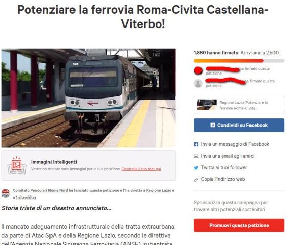Pagina Petizione Roma nord su Change rid